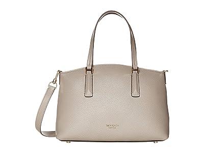 Kate Spade New York Andi Small Satchel (True Taupe) Handbags