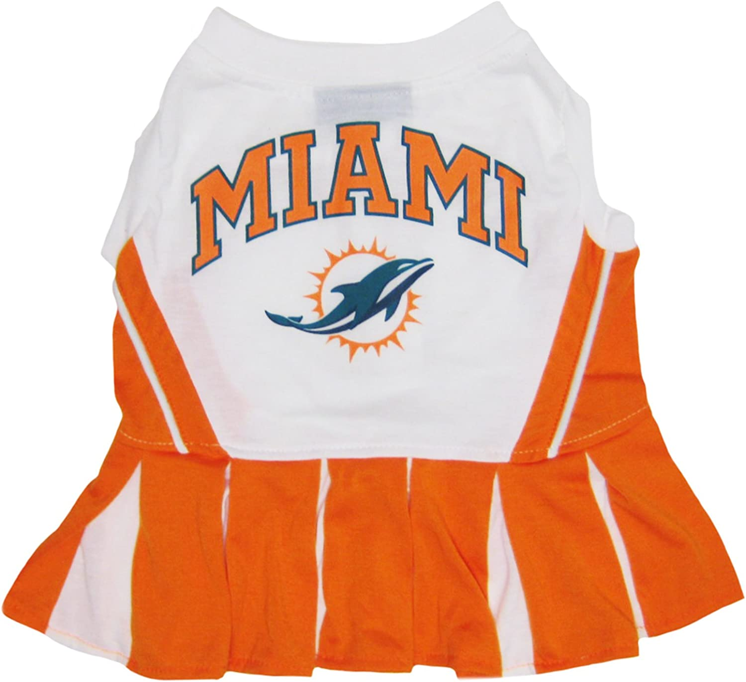 Miami Dolphins NFL Cheerleader Dress for Dogs  Size Medium