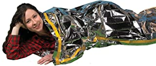 Grizzly Gear Emergency Thermal Sleeping Bags (2 Pack) Weatherproof Mylar Disaster Survival Bivouac | 7 ft x 3 ft | Compact...