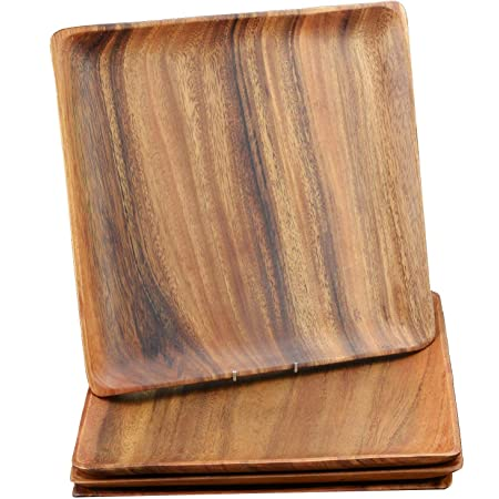 Carve Wood Rectangle Tray Cherry Wooden Snack Tray Solid Wood Serving Tray hollow Tray Hand Paint Wood Plate
