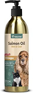 NaturVet - Salmon Oil Skin & Coat Plus Omegas - Supports Healthy Skin & Glossy Coat - Source of Omega-3 & 6 Fatty Acids - ...