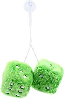 ShawFly Car Hanging Furry Dice, Paar hängende Paare Auto Anhänger mit Punkten für Auto Innenschmuck Dekoration, Innenwand, Kühlschrank Oberfläche , Mehrere Farben zur Auswahl (Grün)