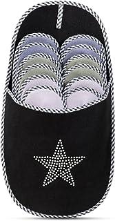 ONVAYA Pantofole per ospiti antiscivolo | set di 6 | Ciabatta in feltro | Stern Poppa stella glitterata