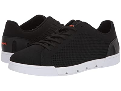 SWIMS Breeze Tennis Knit Sneakers (Black/White) Men