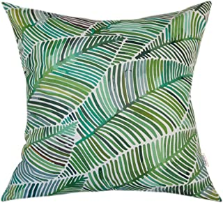 TangDepot 100% Cotton Decorative Handmade Floral Leaf Throw Pillow Cover/Pillow Sham/Cushion Cover, 11 Size Options, Square Pillow Covers - (20