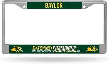 NCAA Baylor Bears 2021 Men's Basketball Champions Chrome License Plate Frame