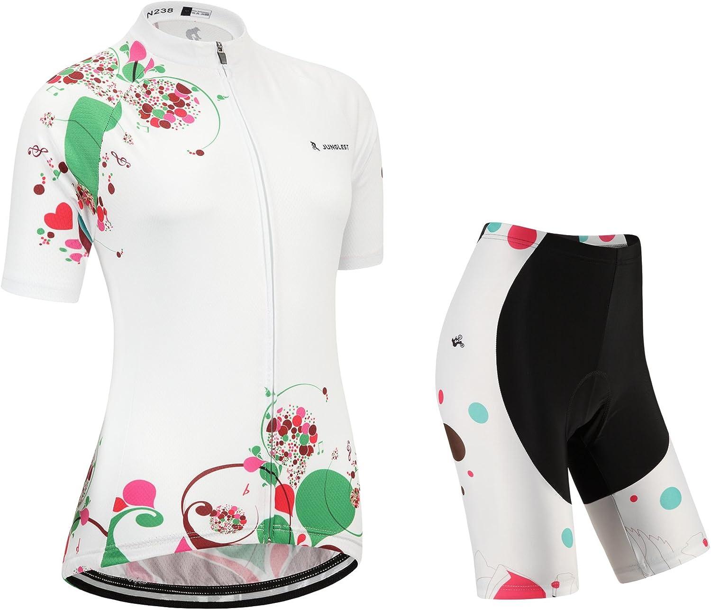 Cycling jersey Set, Maillot de Cyclisme Women Femme Short sleeve Manches Courtes(S5XL,option bib Cuissard,3D pad Coussin) N238