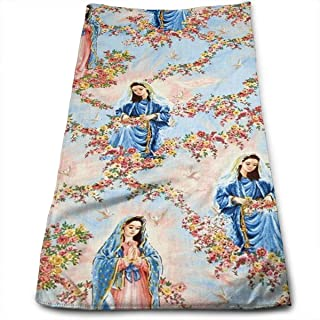 Our Lady Virgin of Guadalupe Sky Multi-Purpose Microfiber Towel Ultra Compact Super Absorbent and Fast Drying Sports Towel Travel Towel Beach Towel Perfect for Camping, Gym, Swimming.