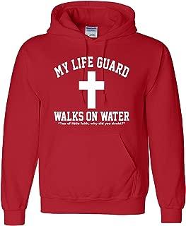 Adult My Life Guard Walks On Water Christian Easter Sweatshirt Hoodie