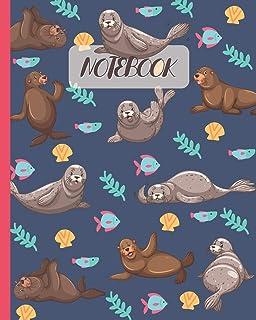 """Notebook: Cute Seals - Lined Notebook, Diary, Track, Log & Journal - Gift Idea for Boys Girls Teens Men Women (8""""x10"""" 120 ..."""