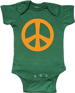 Peace Sign Symbol (Orange) Infant Creeper