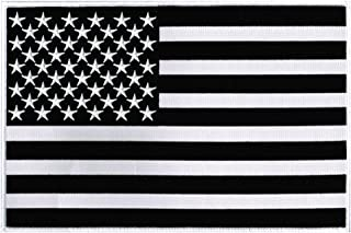 Large American Flag Black Embroidered Patch USA United States of America Iron-On