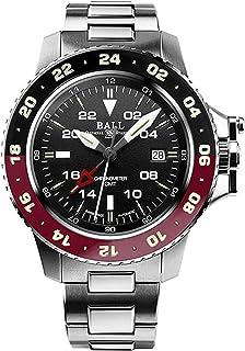 Ball - Reloj de pulsera para hombre con esfera de hidrocarburo AeroGMT II, fecha, GMT, analógico, automático, DG2018C-S3C-BK