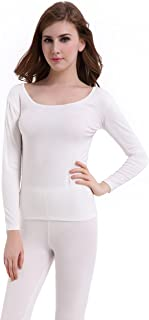 CnlanRow Thermal Underwear Women Long Base Layer Winter -Ultra Thin Set Bottom Pajama