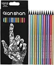 12 Colors Metallic Coloring Drawing Pencils School Art Supplies Colored Pencils for Adult Artist Coloring Books Sketching ...