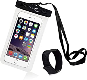 Universal Waterproof Case, DBSTAR Dry Bag Pouch for iPhone 7 6S 6 6S Plus SE 5S Samsung Note 5 S7 S6 Edge for Smart Phone to 6 inch (White)