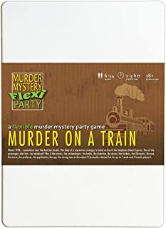 Murder Mystery Flexi Party Murder on a Train 6-14 Player Dinner Party Game