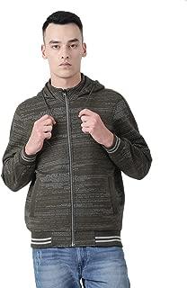 Monte Carlo Olive Printed Cotton Blend Hood Sweatshirt