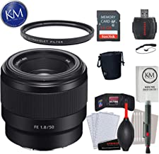 Sony FE 50mm f/1.8 Lens w/ 32GB Memory and Lens Bundle
