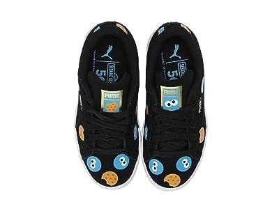 Puma Kids Sesame Street 50 Suede Badge (Little Kid) (Puma Black/Bleu Azur) Kids Shoes