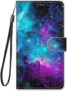 جراب محفظة Mylne لكامل الجسم لهاتف Samsung Galaxy A71، جراب قلاب من جلد البولي يوريثان مع فتحة بطاقة إغلاق مغناطيسي، سحابة