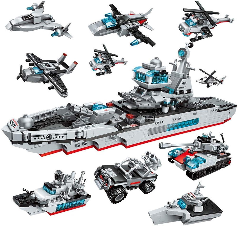 LEEDOO Ozean Cruiser Kinder Bausteine Spielzeug Jungen montiert Feuer Serie Fit Feuerwehrauto dreidimensionale Zauber Einsatz 6-10-12 Jahre 8-in-1 Ocean Cruiser Kinder Spielzeug Gehirn Spiel