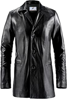 Figura Fashionz Max Payne Mark Wahlberg Black Pu Faux Leather Trench Coat for Men - Black Faux Leather Coat