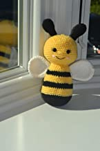 Handmade Amigurumi bumble bee blush toy for baby and kids, Handmade crochet bee, Baby shower gifts and toys.