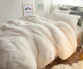 Ceruleanhome 1pc 100% Velvet Flannel Duvet Cover, Solid Color, No Inside Filler, Zipper Close (Full 1pc Duvet Cover, White)