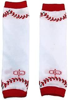 KWC - Sports Baby Leg Warmer/ Leggings (One Size, White Baseball)