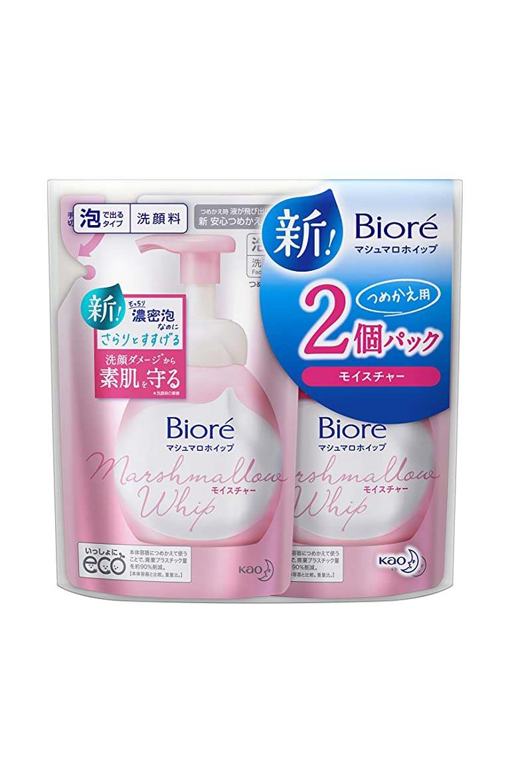 広告警告する構築するビオレ マシュマロホイップ モイスチャー つめかえ用 2個セット 泡洗顔料