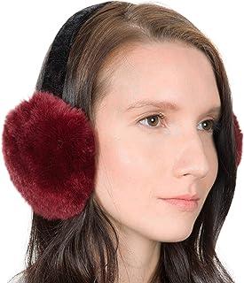 04e19387bae90 OBURLA Genuine Fur Earmuffs   Luxurious Real Fur Over Ear Warmers with  Headband   For Women