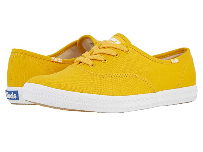 1950s Style Shoes | Heels, Flats, Saddle Shoes Keds Champion Seasonal Solids Cadmium Yellow Womens Lace up casual Shoes $45.72 AT vintagedancer.com