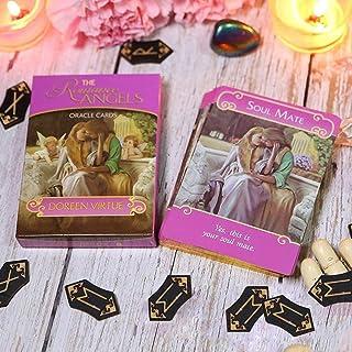 神秘的なロマンチックな天使のオラクルカードタロットカード、44の金メッキの愛の運命タロットカード、パーティーゲームで最も革新的なタロットカード、天使カード/神カード/運命予測カード