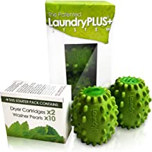 LaundryPLUS+ System: #1 BEST Laundry Product For Your Washer AND Dryer, Patented & Proven To Reduce Detergent By 90%! Clean & Soften Clothes Naturally w/o Bleach, Fabric Softeners & Wool Dryer Balls