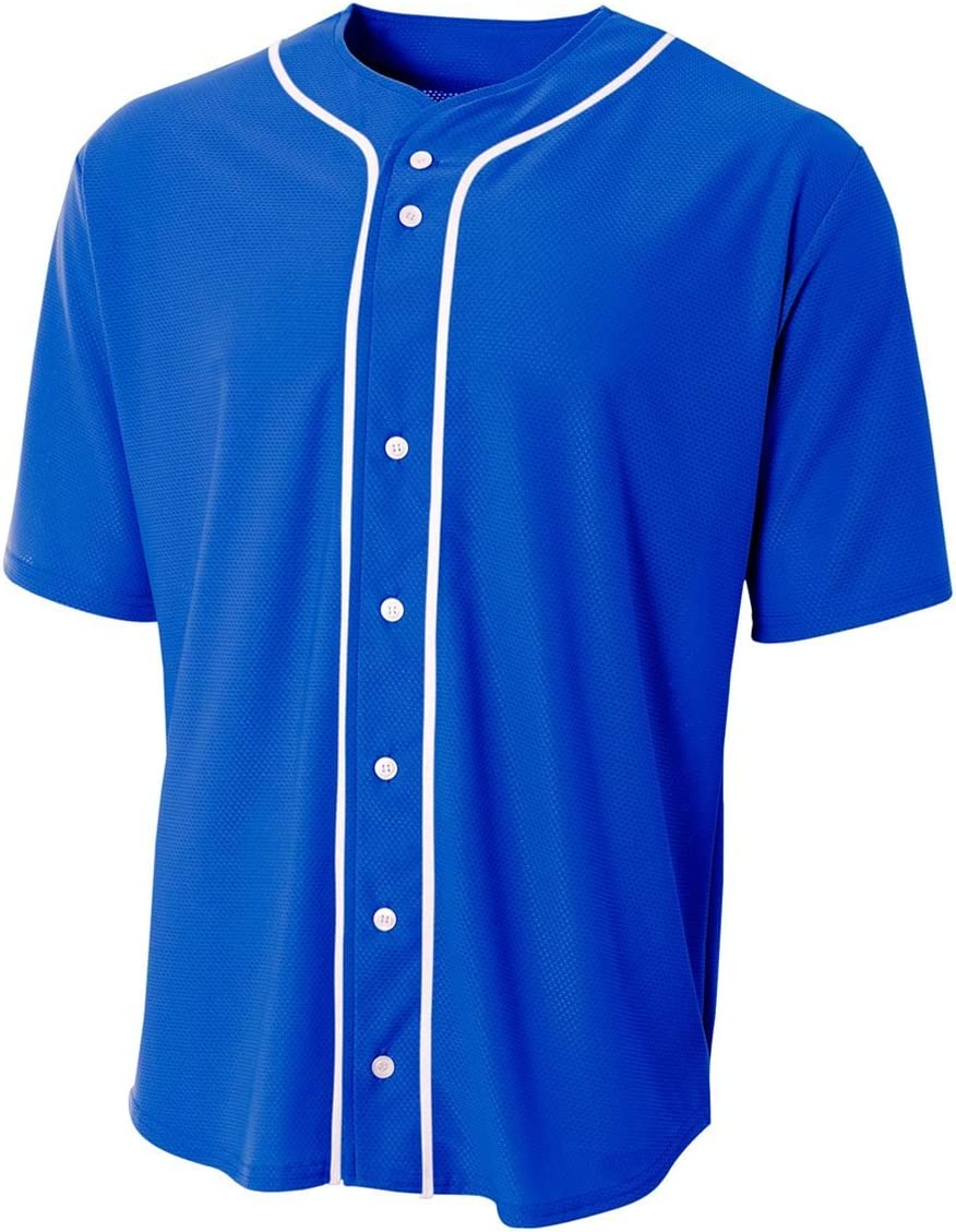 A4 Sportswear Baseball trend rank Full Spring new work one after another Button Wicking Back or Blank Custom