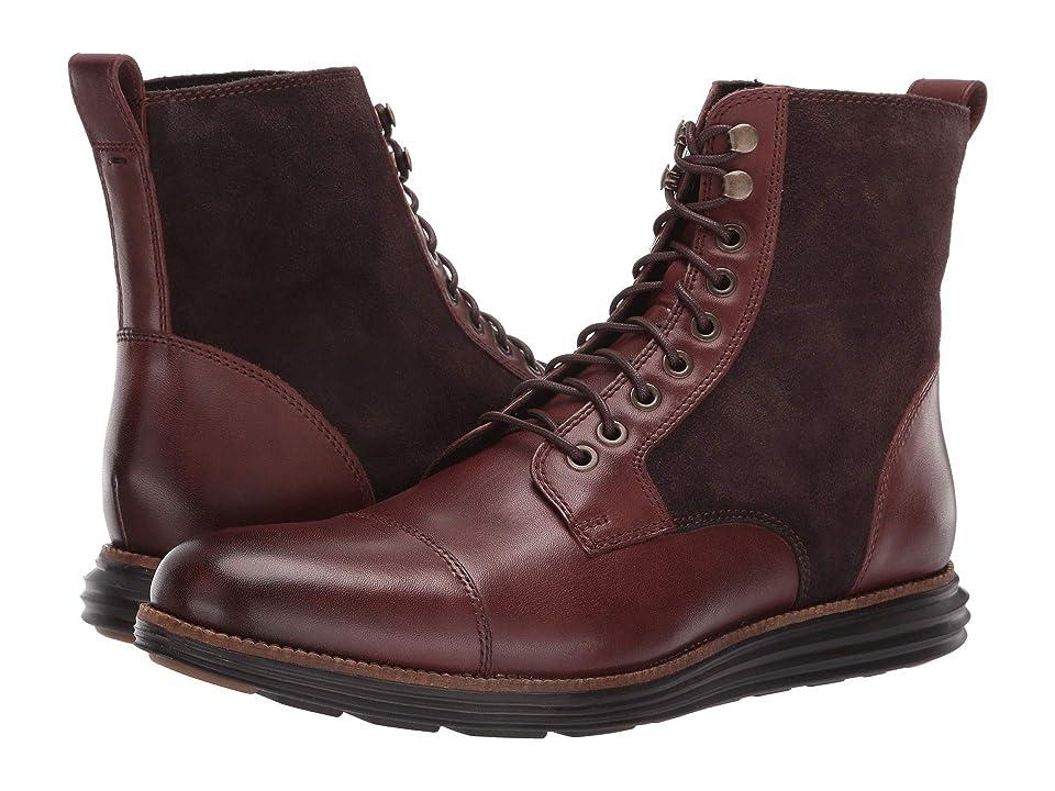 Cole Haan O.Original Grand Cap Toe Boot II (Brown/Black) Men