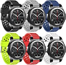 Compatible Samsung Gear S3 Frontier Bands/S3 Classic Band/Galaxy Watch 46mm Band 22mm Watch Band Silicone Material Samsung Gear S3 Smartwatch Women Men
