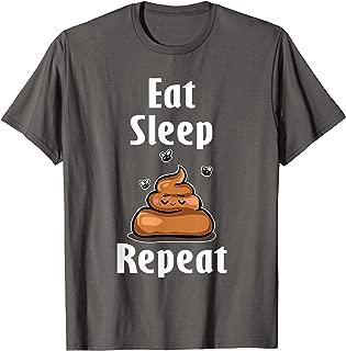 Eat Sleep Poop Repeat T-Shirt Emoji I Pooped Today Women
