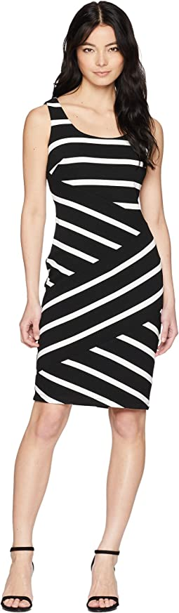 be0e06e6 29. Adrianna Papell. Petite Ottoman Striped Sheath