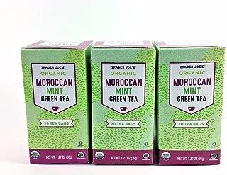 Trader Joe's Organic Moroccan Mint Green Tea 20 tea bags(1 pack)