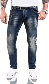 Jeans Rock Rock Designer Designer pour Hommes Jeans Stretch Slim Fit Coupe Slim W29-W40 M21