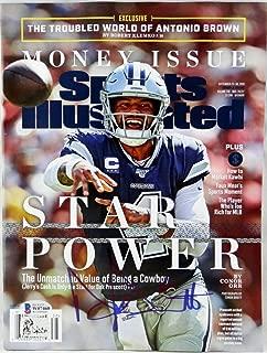 Dak Prescott Autographed Sports Illustrated Magazine Cover- Beckett W Auth Blue