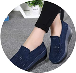 Don't mention the past 2019 Autumn Women Flat Platform Loafers Shoes Ladies Suede Leather Hollow Casual Shoes