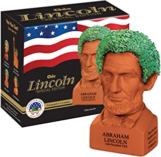 Chia Pet Abraham Lincoln, Decorative Pottery Planter, Freedom of Choice, Easy to Do and Fun to Grow, Novelty Gift, Perfect...