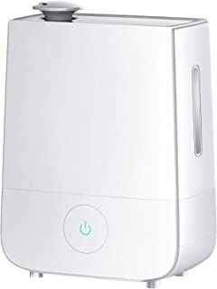 InnoGear 4L Touch Control Ultrasonic Humidifiers 360° Rotatable Nozzle 3 Mist Level Low/Medium/High 13-40 Hrs Waterless Auto Shut-Off Whisper Quiet Home Baby Nursery, 4 L, White