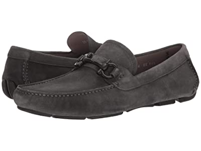 Salvatore Ferragamo Parigi Driving Loafer (Asfalto Grey Suede) Men