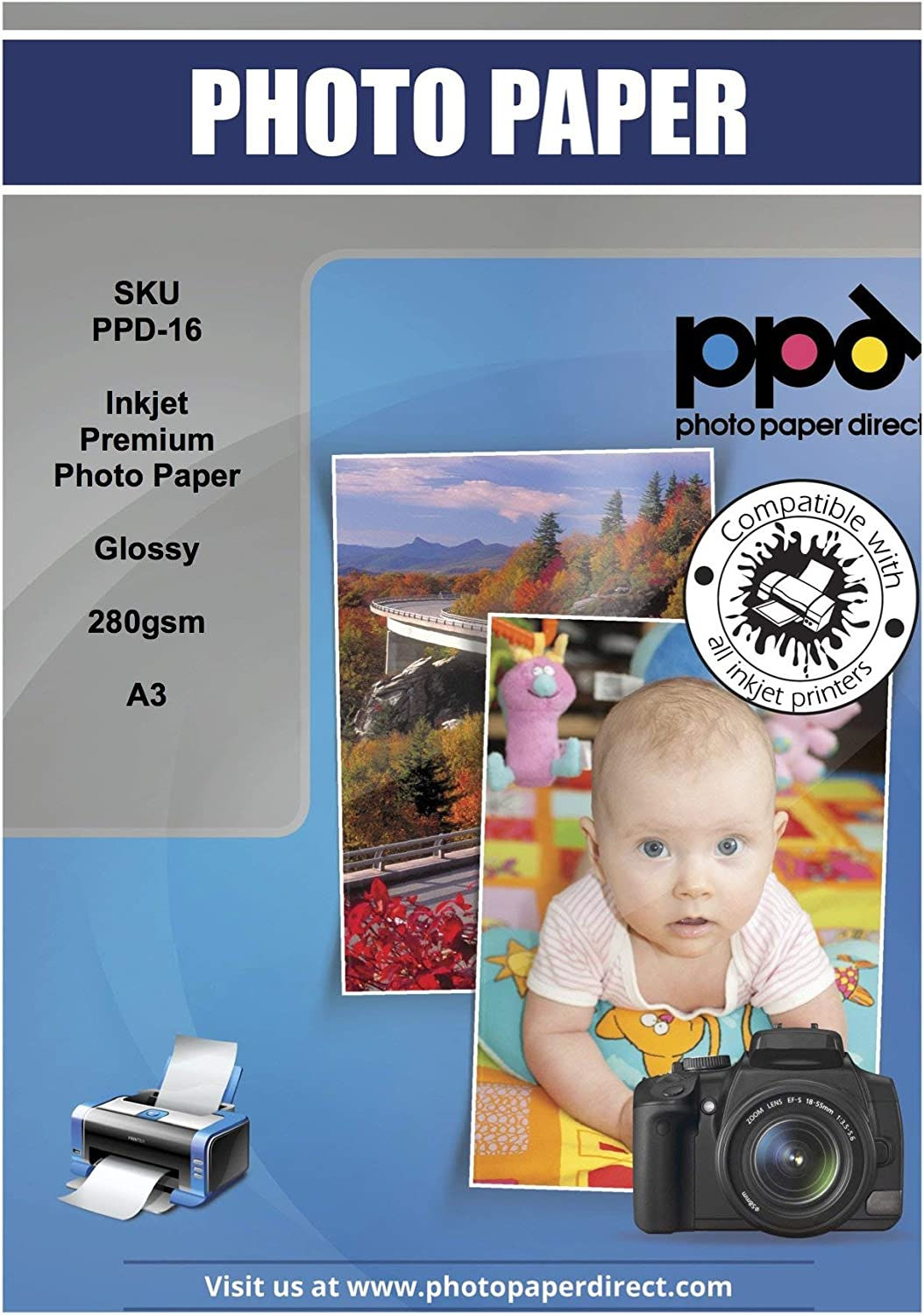 PPD Our shop OFFers the best service Inkjet Glossy Super Premium Photo 17'' 11 Paper x 68lbs. Elegant 255