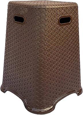 Nilkamal Modern Design Plastic Stool (Rattan Design)