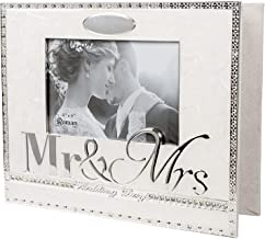 Wedding Day Mr. and Mrs. 8.5 x 10 inch Zinc Alloy Keepsake Photo Album